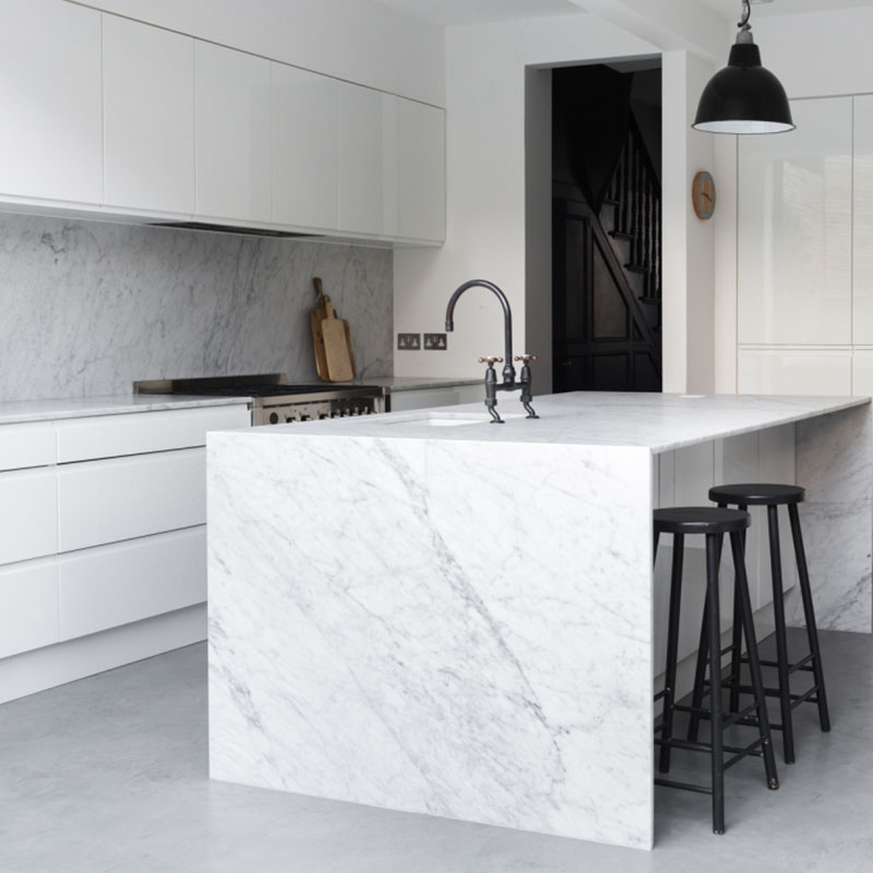 Cararra Marble With Grey Veins
