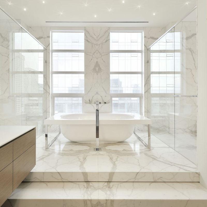 Best Bathroom Polished Calacatta Marble Bathroom Polished