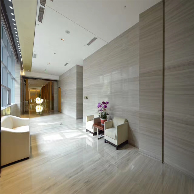 Best Lobby Project Chinese White Wood Marble Lobby Project