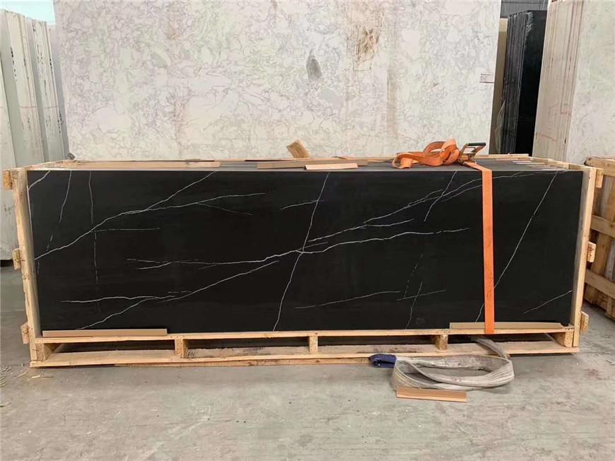 Gold Vein Black Marble Slabs