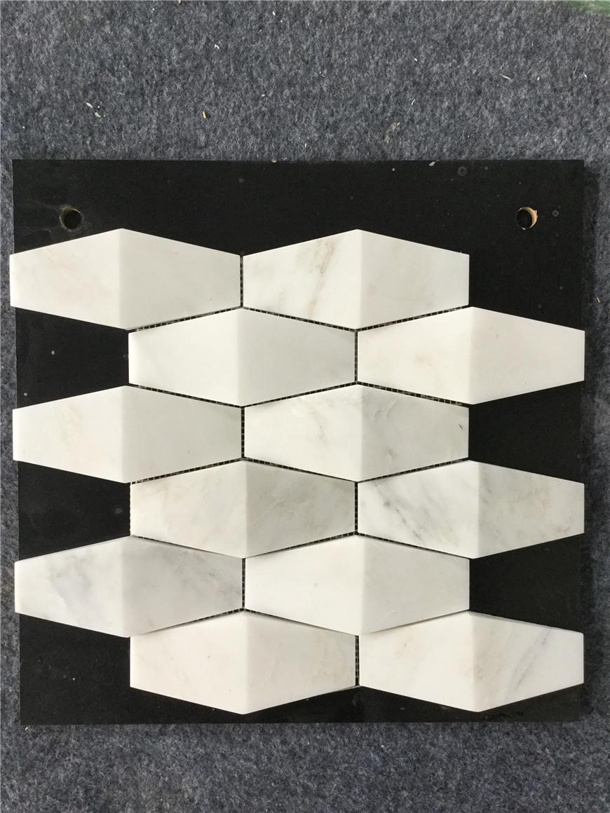 natural white mosaic tile
