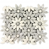 White Mosaic Backsplash Decor