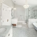 white marble Bianco Carrara White for Bathroom