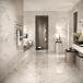 Italian Statuario White Marble Bathroom and Kitchen