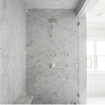 Buy Best Polished Cararre White Marble shower wall slabs design With Factory Price