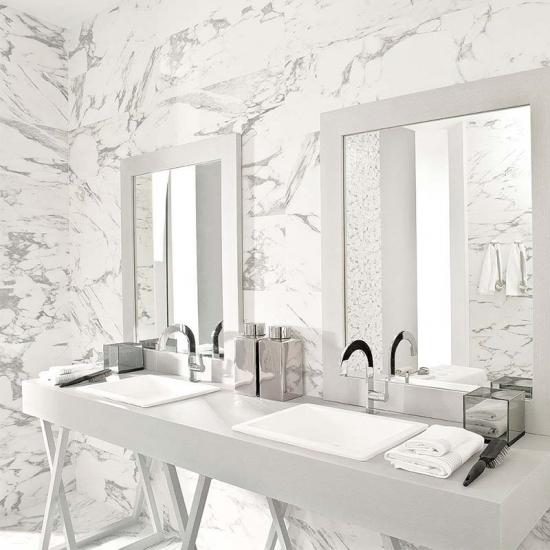 Statuario White Marble Bathroom