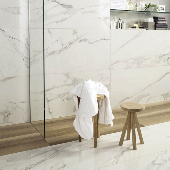 Countertop Vanity Top Bathroom Wall Tiles Of Calacatta Carrara