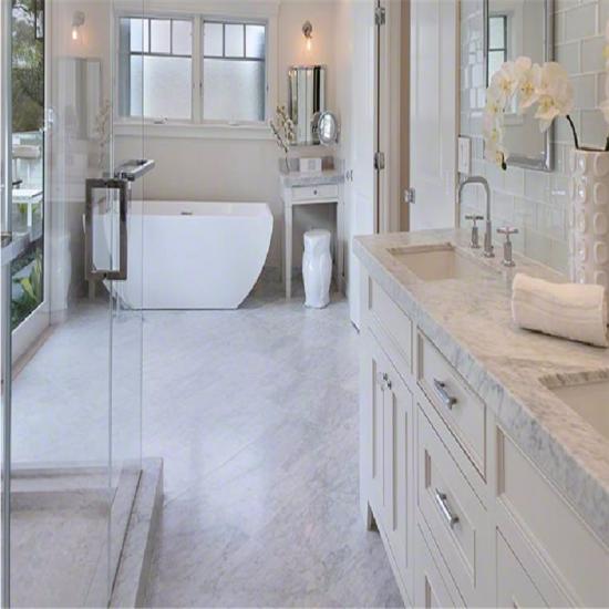 White Marble Bianco Carrara For Bathroom