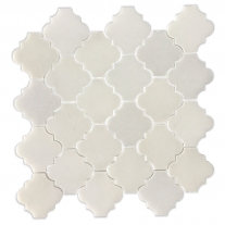 White Mosaic Backsplash Marble