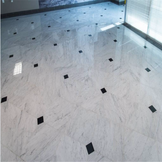 . Shopping Online Carrara White Flooring Tile with pure black marble