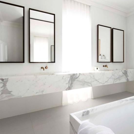 Countertop & Vanity Top - Italy white marble Calacatta Carrara for on