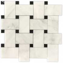 White marble mosaics for bathroom