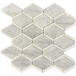 White Rhombus Marble Mosaic Tiles for Bathroom Walling