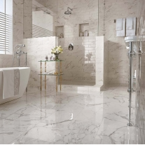 carrara white marble honed