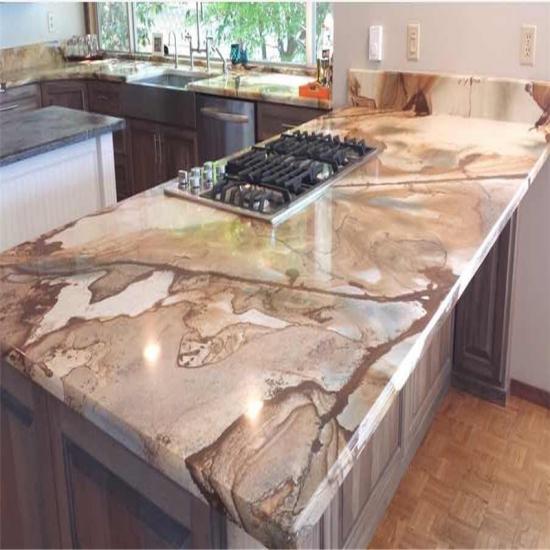 ... Royal Palomino Quartzite Natural Quartz Stone Countertop
