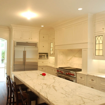 Kitchen Polished calacatta gold italian marble