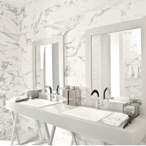 statuary marble bathroom