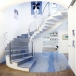 Azul Macaubas Blue Granite  Spiral Stair design