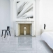 Bianco carrara marble tile floor