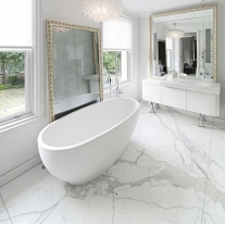 Bathroom Honed bianco carrara marble slab