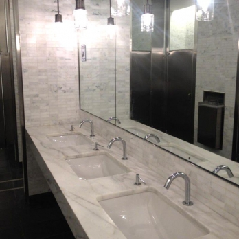 Bathroom Statuary carrara marble counter