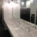 Polished carrara marble bathroom countertop