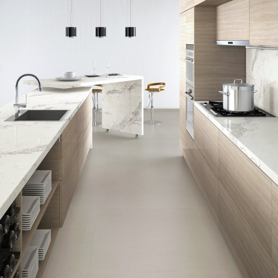 Best Polished Caesarstone Calacatta Nuvo Kitchen Top