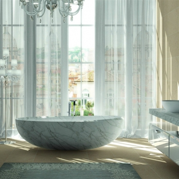 Bianco carrara white marble bathtubs