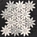 Special Design White Marble Mosaic Tiles Flower Pattern Puzzles