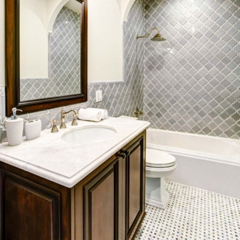 Special Design White Marble Mosaic Tiles
