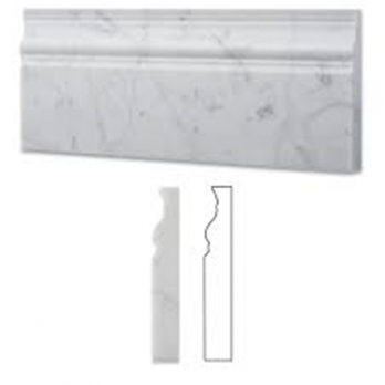 Buy Best Carrara White Marble Honed Baseboard Trim Molding Sample With Factory Price