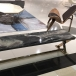 Luxury black marble table top with high degree polishes
