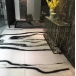Panda white marble floor tile with polished