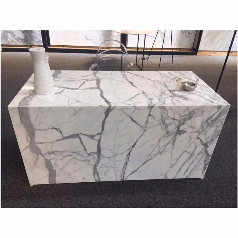 New designs Calacatta White marble Table top